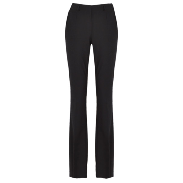 Jason Wu Black Wool Boot-Leg Trousers M