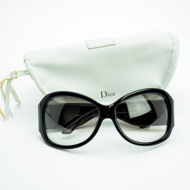 Christian Dior Black Mirrored D 'Boudoir' Woman Sunglasses