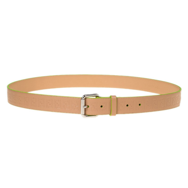 fendi zucca beige leather belt 105cm buy sell lc