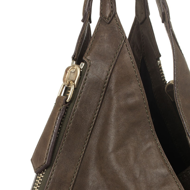Givenchy Brown Calfskin Tinhan Hobo