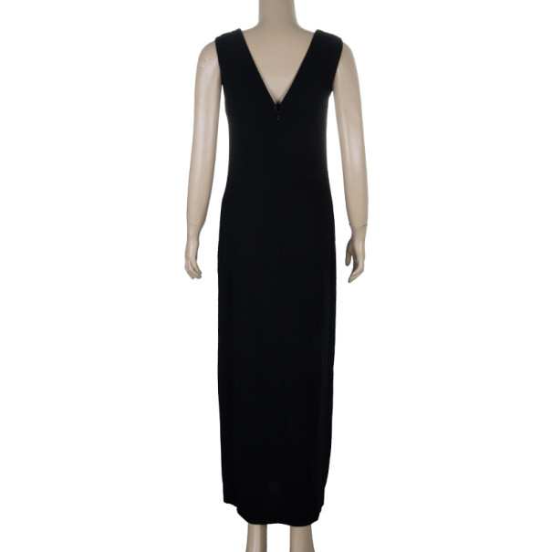 Chanel Fitted Wool Maxi Dress M