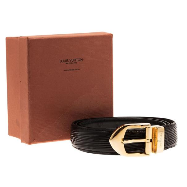Louis Vuitton Black Classique Epi Leather Belt 110CM