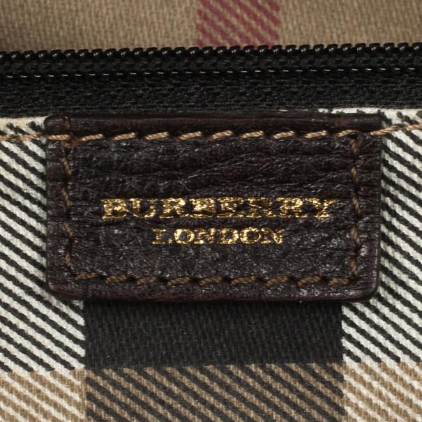 Burberry Dark Brown Leather Satchel