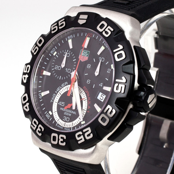 Tag Heuer Formula1 SS Rubber Chronograph Unisex Wristwatch 40MM