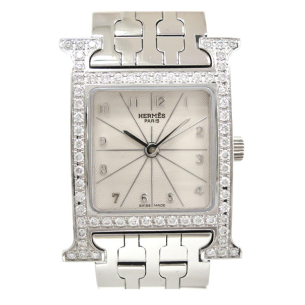 Hermes Cream Stainless Steel H Women's Wristwatch 22MM