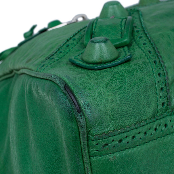 Balenciaga Green Leather Giant Covered Midday Tote