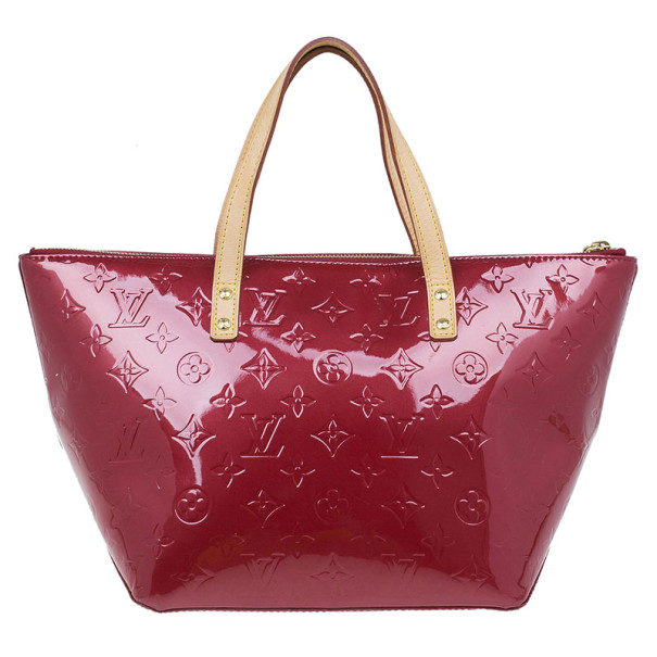 Louis Vuitton Red Monogram Vernis Bellevue PM