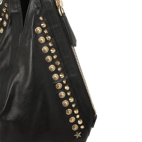 Givenchy Black Studded Tinhan Hobo Bag
