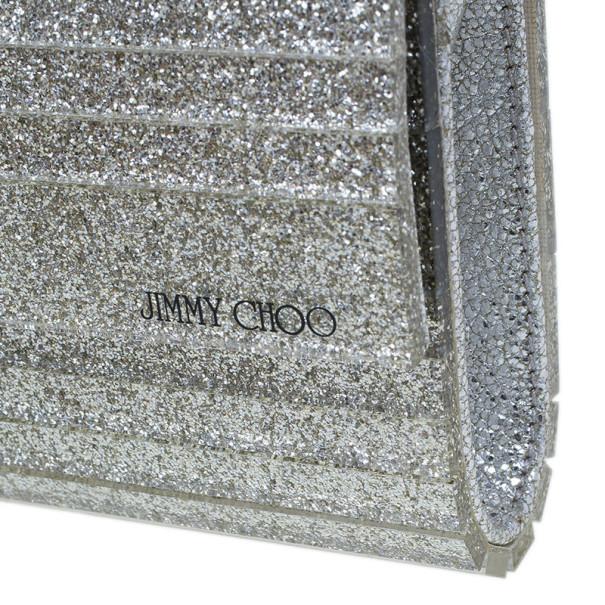 Jimmy Choo Silver Acrylic Sweetie Clutch
