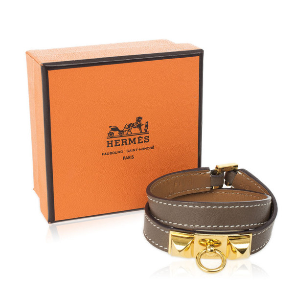 Hermes Rivale Double Tour Leather Bracelet