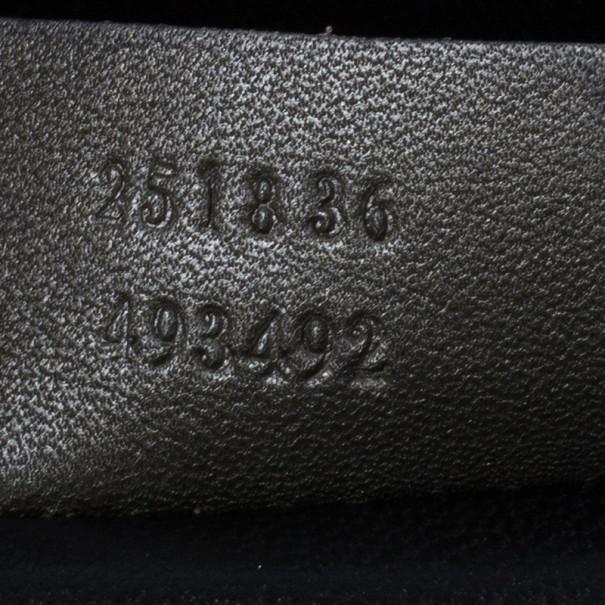 Gucci Metallic Python 1973 Gunmetal Clutch