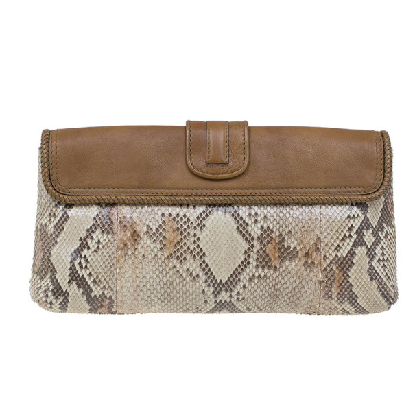 Gucci Python and Leather Marrakech Clutch