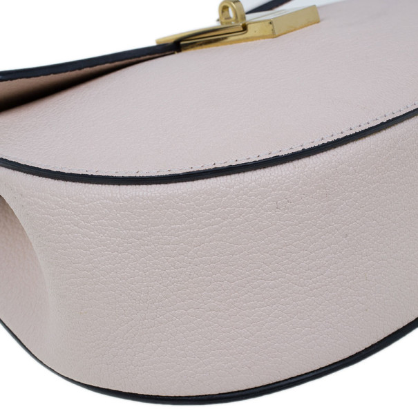 Chloe Pink Leather Medium Drew Bag