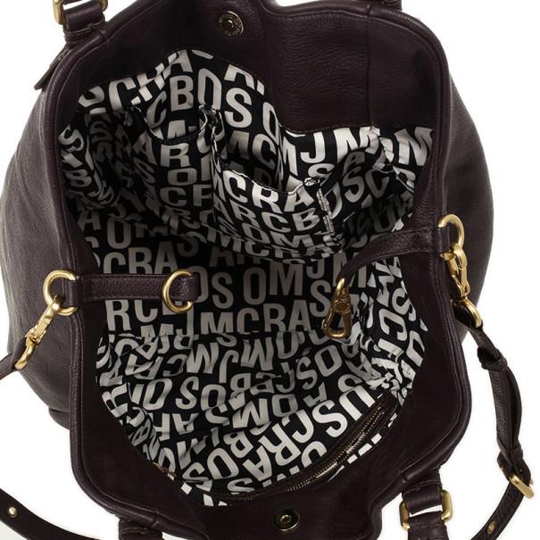 Marc by Marc Jacobs Dark Purple Classic Francesca Large Tote Bag