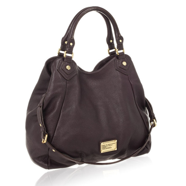 Marc by Marc Jacobs Dark Purple Classic Francesca Large Tote Bag