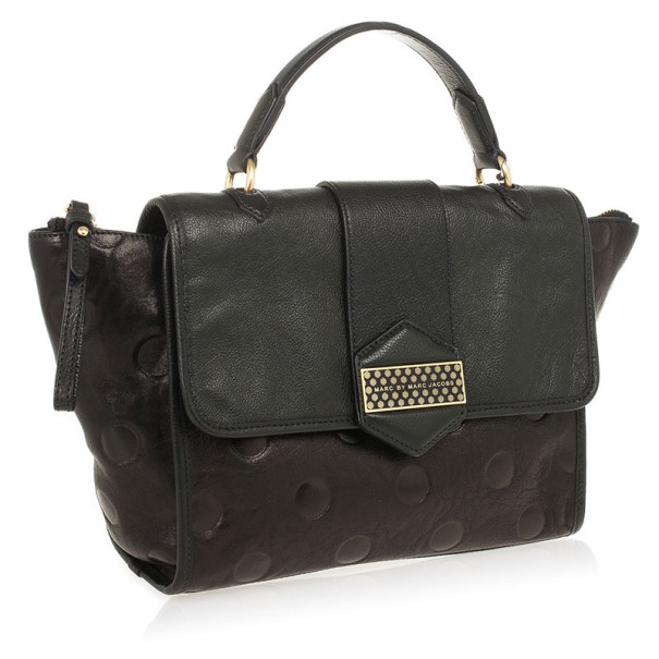 Marc by Marc Jacobs Flipping Dots Black Top Handle Bag