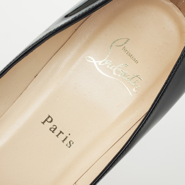 Christian Louboutin Black Patent Pigalle Pumps Size 40