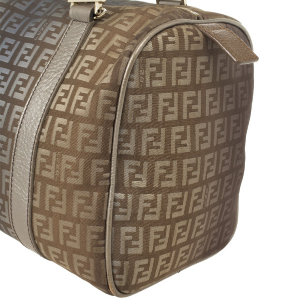 Fendi Zucchino Forever Boston Satchel