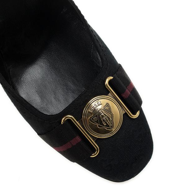 Gucci Black Guccissima Web Detail Hysteria Pumps Size 41