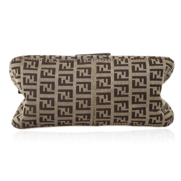 Fendi Zucchino Monogram Mini Baguette Bag