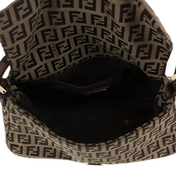 Fendi Zucchino Monogram Mini Baguette Bag