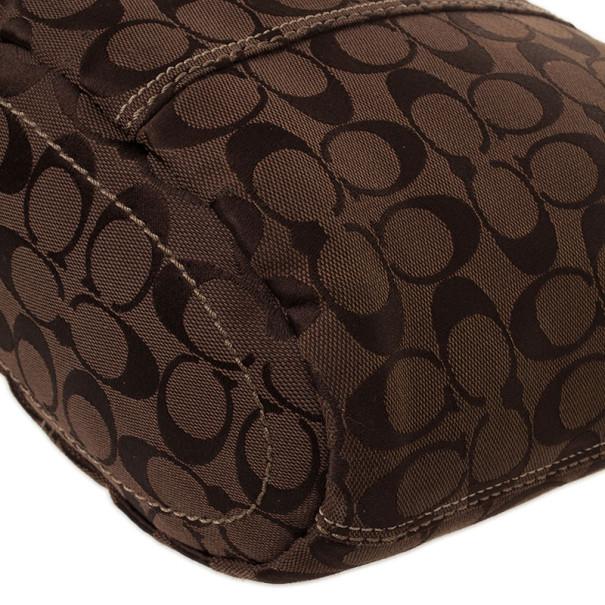 Coach Signature Bleecker Duffle Bucket Crossbody Bag