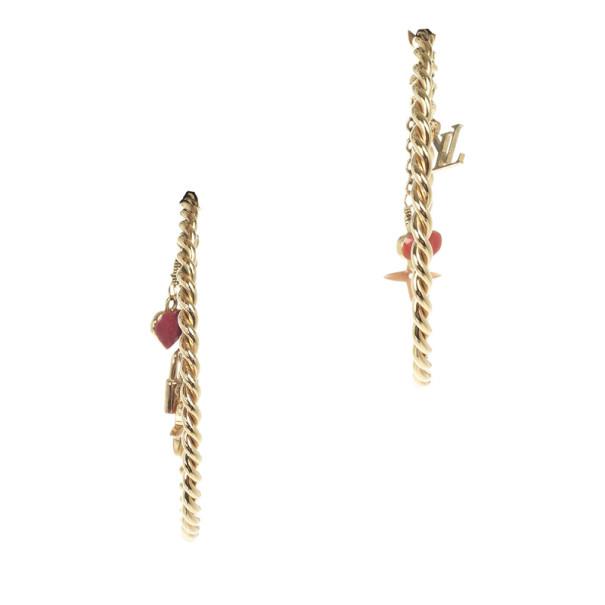 Louis Vuitton Sweet Monogram Hoop Earrings