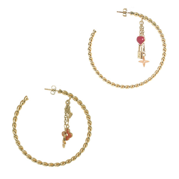 Louis Vuitton Sweet Monogram Hoop Earrings
