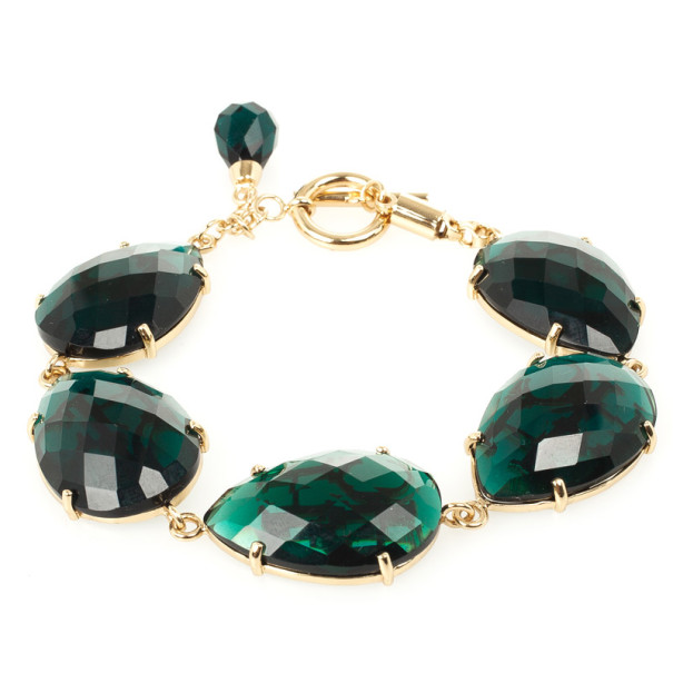 Carolina Herrera Green Drops Bracelet