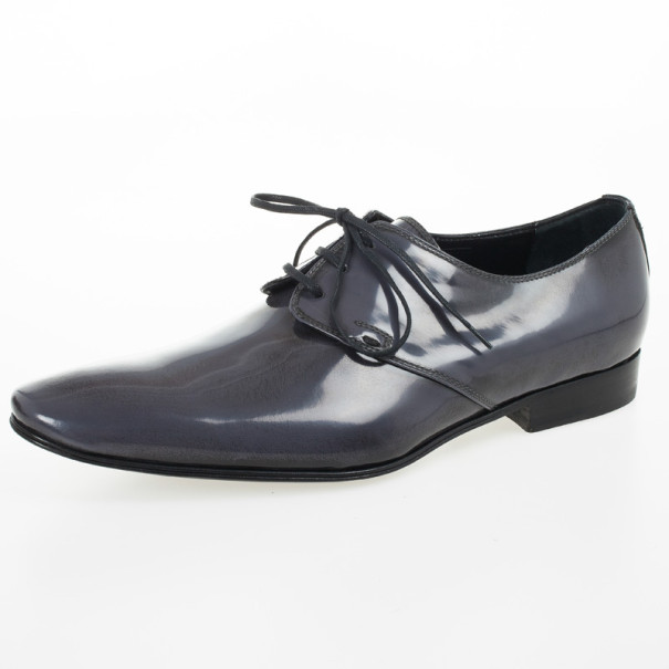 Christian Dior Grey Lace Up Dress Shoes Size 43