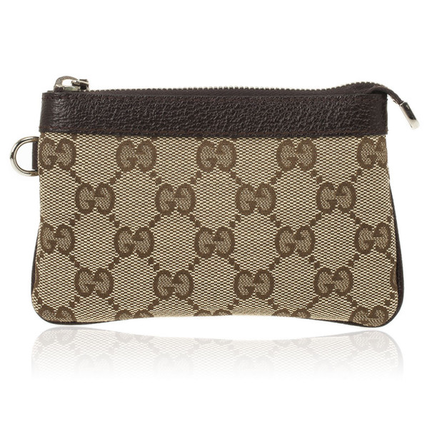Gucci Beige Monogram Coin Purse