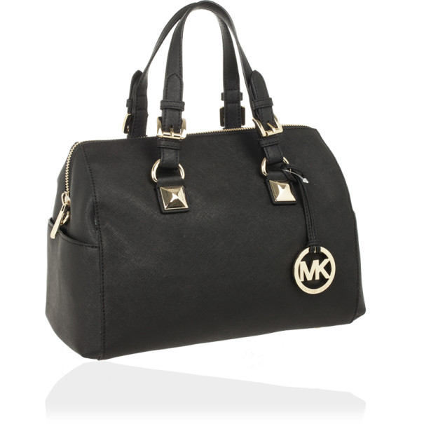 Michael Kors Black Medium Saffiano Leather Tote