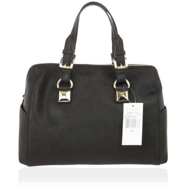 Michael Kors Black Medium Saffiano Leather Tote