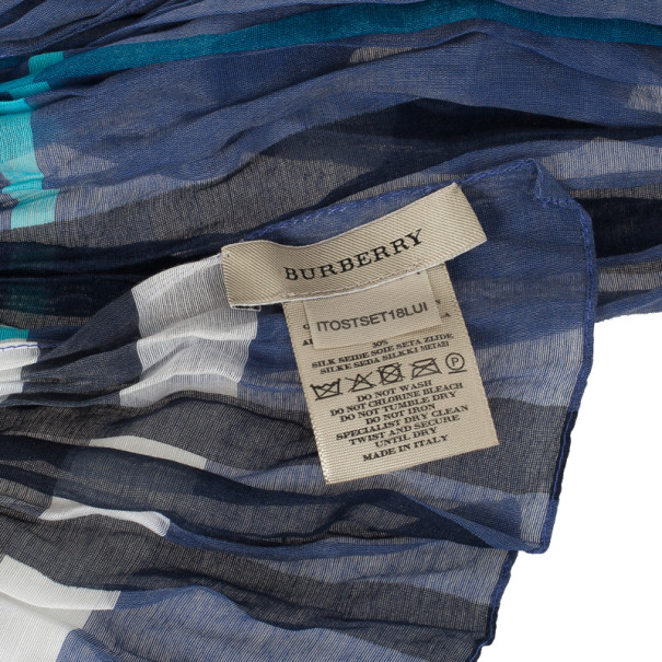 Burberry Blue Novacheck Scarf