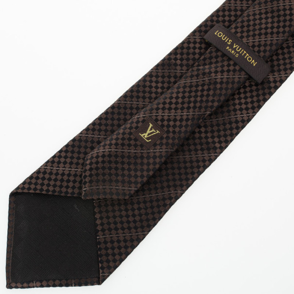 Louis Vuitton Black Petit Damier Tie
