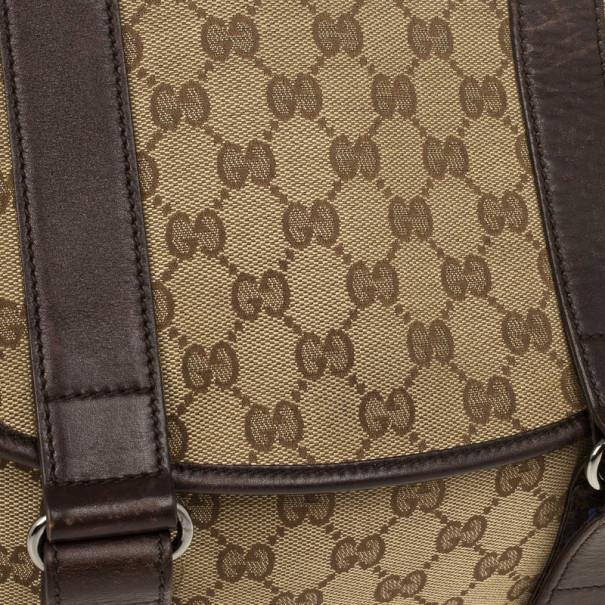 Gucci Brown Ebony GG Canvas Messenger Bag