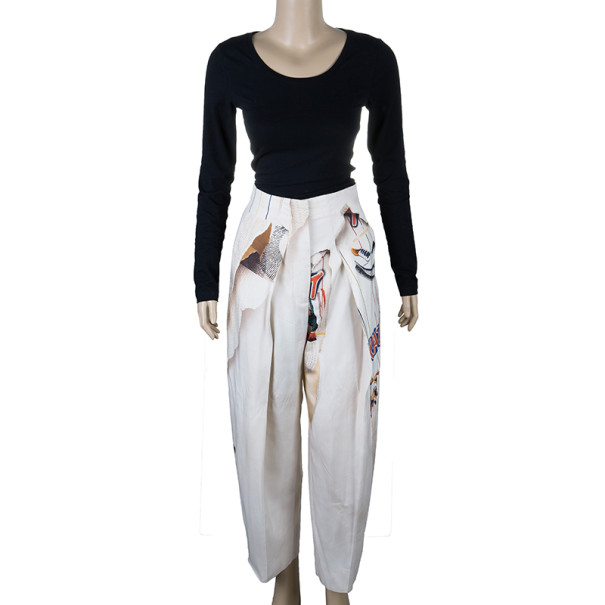 Stella McCartney Printed Silk Trousers S