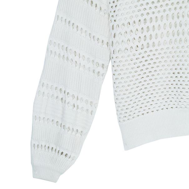 Chloe Off-white Cotton Sweater M