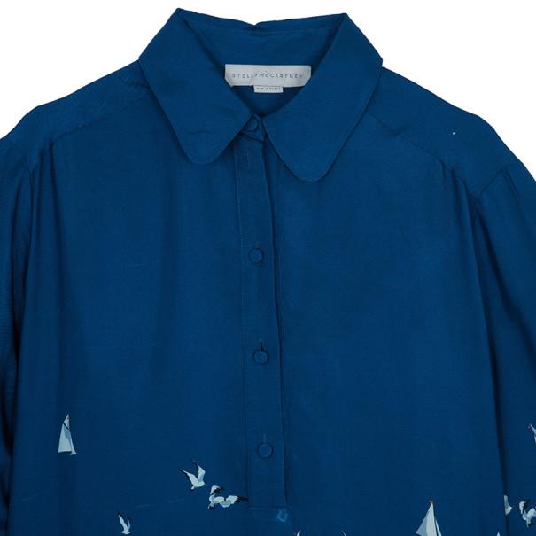 Stella McCartney Blue Silk Tunic Dress M