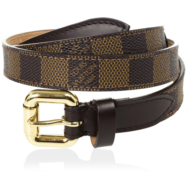 Louis Vuitton Damier Ebene Belt 92 CM