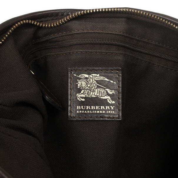 Burberry Haymarket Check Hobo Bag