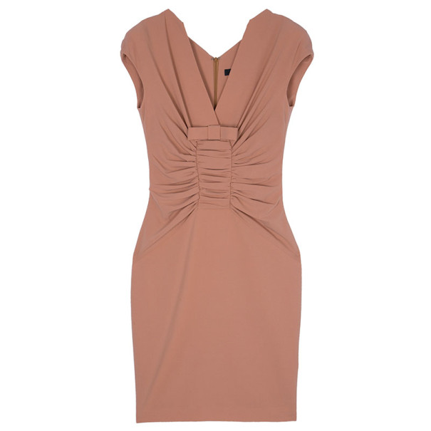 Elie Saab Apricot Bow Dress S