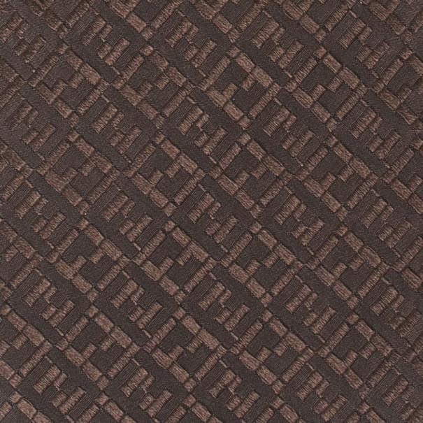 Fendi Dark Brown Zucchino Monogram Tie