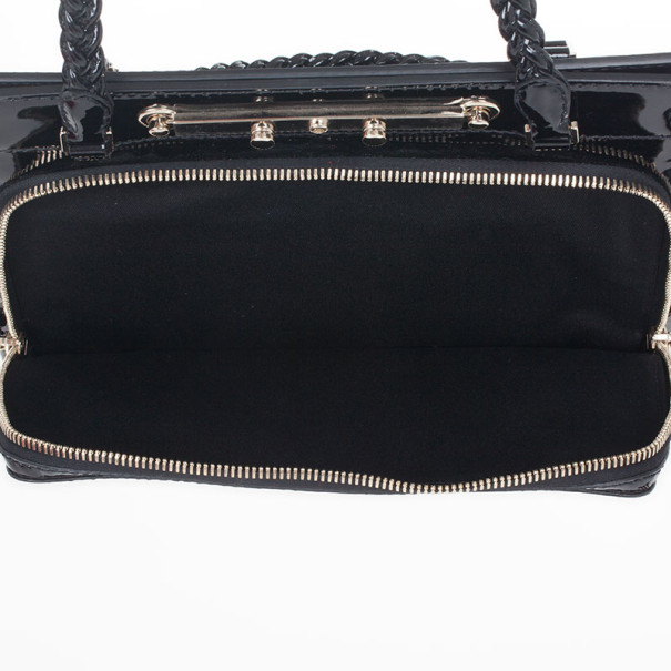 Valentino Garavani Demetra Black Patent Leather bag