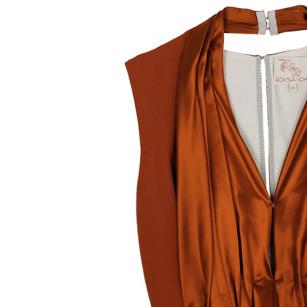 Roksanda Ilincic Orange Silk Top M