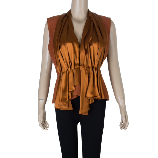 Roksanda Ilincic Orange Silk Top M