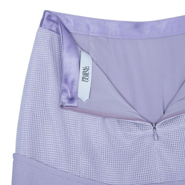 Prabal Gurung Lilac Mesh Skirt S