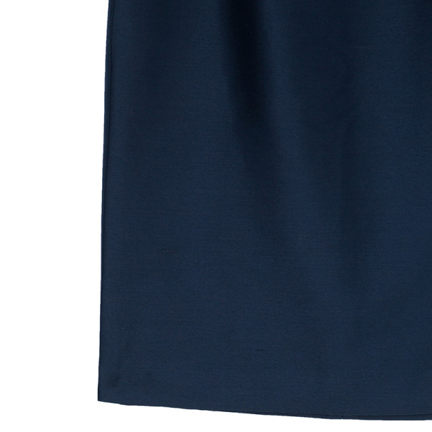 Oscar de la Renta Navy High Waist Skirt M