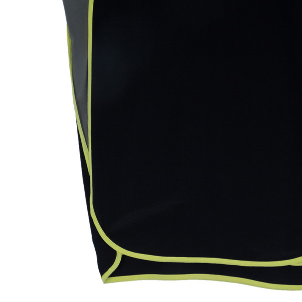 Alexander Wang Khaki Black Silk Top M