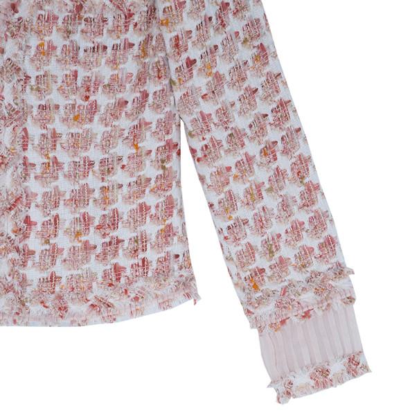 Oscar de la Renta Peach Tweed Skirt Suit M